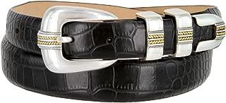 Men's Gold Norris Genuine Italian Calfskin Leather Designer Dress Golf Belt