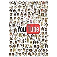 Suuyar Youtubeポスター巨大なクールなYoutuberポスターとリビングルームのホームベッドルームのキャンバスに壁のアートプリントを印刷-24X32インチX1フレームレス