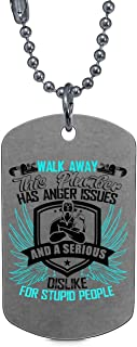 CARONECK Plumber Has Anger Issues Necklaces, Gift for My Plumber Dog Tag
