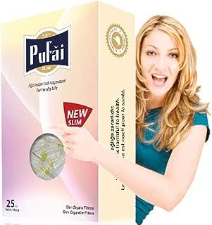 Pufai Slim Cigarette Filters Ultra Slim Type Compatible 5mm 6mm 25 Piece Box Rose