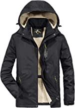 Alalaso Mens Parka Jacket Cotton Coat Winter Outwear with Real Fur Hood Thick Outdoor Snowjacket