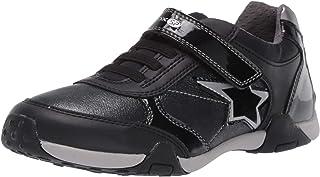 حذاء رياضي للسيدات من Geox مطبوع عليه نجوم Tale Low Profile Star، أسود oxford، مقاس 33 M EU للأطفال الصغار (2 US)