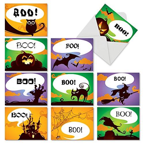 Schaurig-schöne Notizen Halloween Witz Papier Karte 10 Assorted Halloween Cards (M6688HWG) 10 Assorted Halloween Cards (M6688HWG)