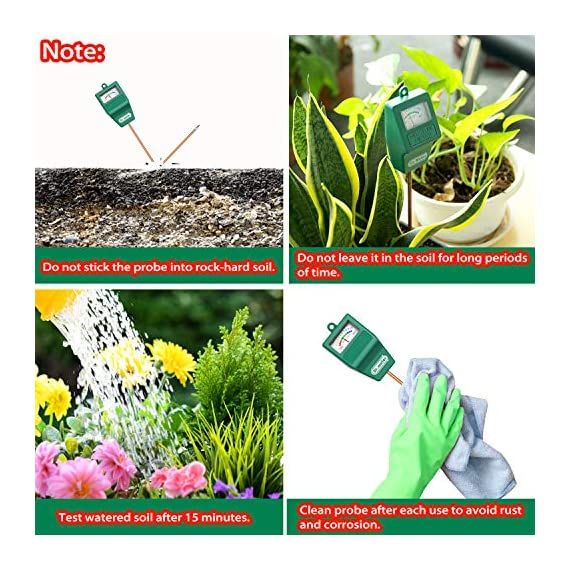 Soil Moisture Meter, S10 Soil Test Kit, Dr.meter Moisture Meter for Plants, Plant Water Meter for Garden Lawn Farm… 3 ▶ 【Compact & Portable】 Have you been sticking your finger in the soil hoping to feel when it's time to water? Why not eliminate the guesswork and keep your hands clean when you use the Dr.meter Soil Moisture Sensor Meter! Know the right time to water your garden, farm, lawn and plants, anytime. ▶ 【Easy to Read】No experience required--while this machine is sophisticated, it's not complicated! With an interface using ten scales and a color-coded reading system from red, green to blue, it's never been more straightforward reading your soil moisture. ▶ 【No Batteries Required】Who needs batteries or electricity? Just plug stick it into the ground and get a reading in no time!