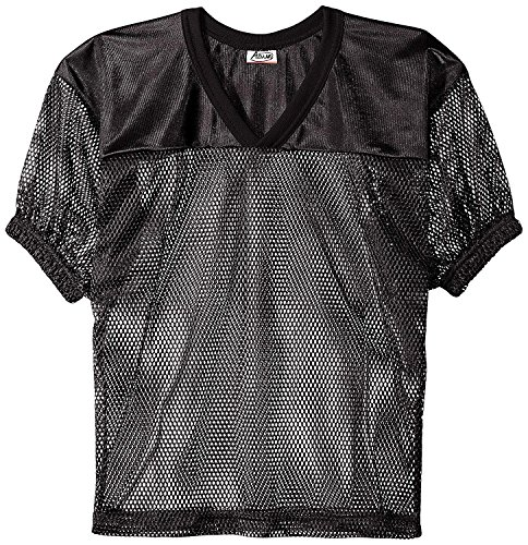 ADAMS USA FB Youth Jersey with Elastic Sleeve, Black, L