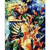 Paint by Number Srood para niños Kit de decoración de la Pared del hogar Art Paint Painting Sets Abstract Cello Painwork 40X50Cm Sin Marco