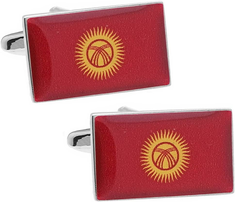 Kyrgyz National Cufflinks Now 67% OFF of fixed price free shipping Flag