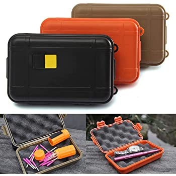 2 Sizes Outdoor Plastic Waterproof Airtight Survival Case Container Storage Box@