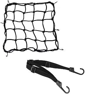 1 Stück Motorrad Gepäcknetz Fahrrad Netz Helmnetz mit Haken Spannnetz Sicherungsnetz 1 Stück Elastisches Gepäckband für Befestigung Helm Gepäcktasche Gummizug Dehnbar 40 x 40cm