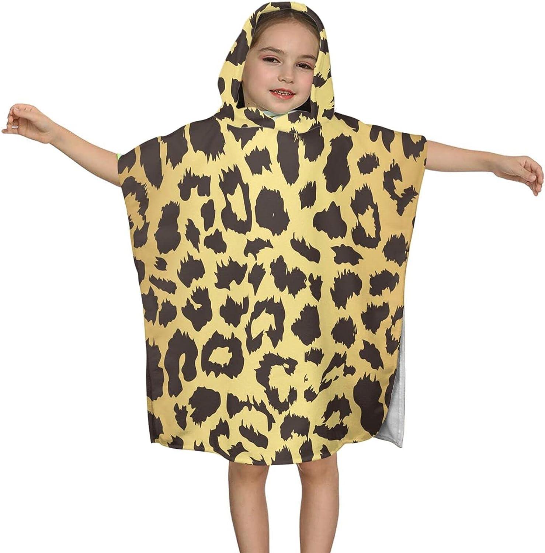 Hooded Wholesale San Francisco Mall Bath Towel Gold Leopard Wrap Print Kids Soft