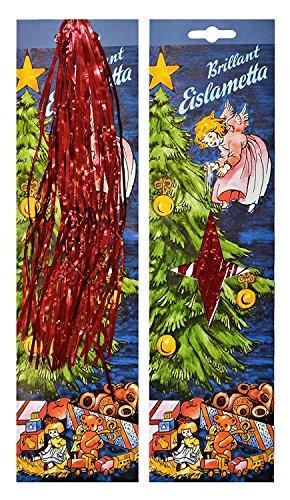 Helmecke & Hoffmann * Stanniol Eislametta Lametta Staniol Baumdeko Baumbehang Christbaumschmuck 10 g (rot)