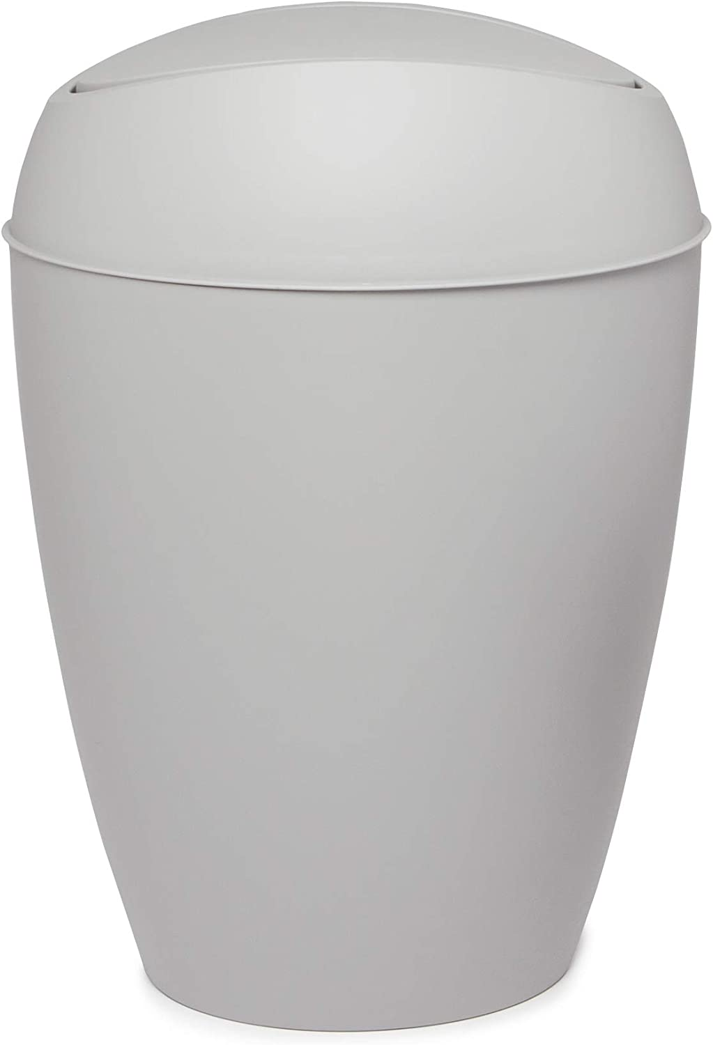 Trash Can with Swing-top Lid Shadow Gray 2.4 Gallon