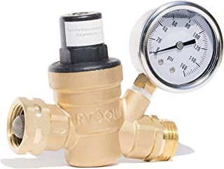 RVAQUA M11-45PSI Water Pressure Regulator for RV Camper – Brass Lead-Free..