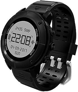 QEW Reloj Inteligente GPS Deportes Al Aire Libre Montañismo Natación IP68 Impermeable El Reloj Bluetooth Multifunción Puede Medir La Presión del Aire Y La Altitud Y Una Batería Grande De 450 MAh