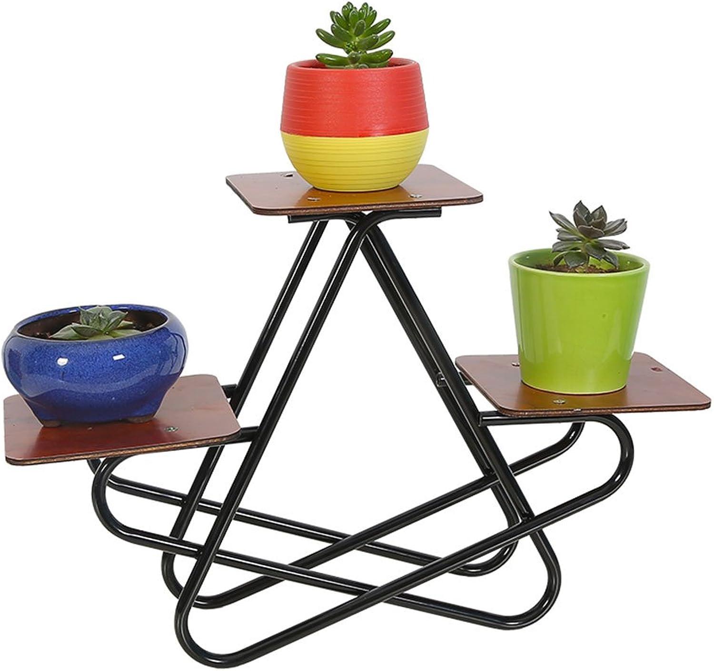 Plant Container Desktop Flower Stand, Wrought Iron Multi-Layer Plant Frame Decoration Living Room Desk Pot Rack