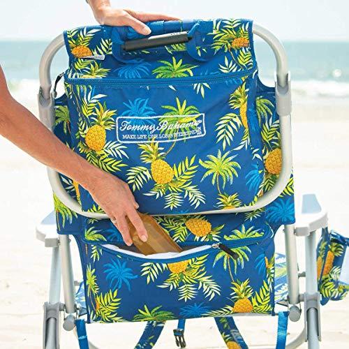 TECNOVOZ Tommy Bahamas 2000998 Folding Backpack Beach Chair, Yellow/Yellow/Pineapple