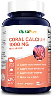 Sponsored Ad - Coral Calcium 1000 mg - 240 Caps (Non-GMO & Gluten-Free) Supports Bone Health & PH Levels*- Contains Magnes...