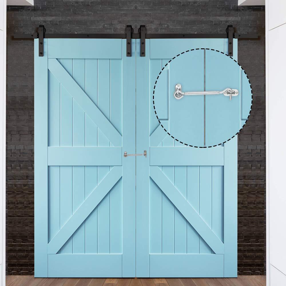 Dreamtop - Gancho de acero inoxidable para puerta de granero, 4 ...