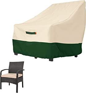 VINPATIO Waterproof Patio Chair Covers, Lounge Deep Seat Cover, 600D Oxford Heavy Duty Outdoor Lawn Patio Furniture Covers with Air Vents,Size 32