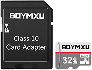 TF Card 32GB,BOYMXU TF Memory Card with Adapter,High Speed UHS-I Card Class 10 Memory Card for Phone Camera Computer.