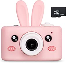 Abdtech Kids Camera Toys for 4-8 Year Olds Girls, Rechargeable Children Digital Cameras with Rabbit Cover for Girl Boys Sh...