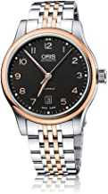 Oris Classic Date Automatic Black Dial Rose Gold and Steel Mens Watch 01 733 7594 4394-07 8 20 63