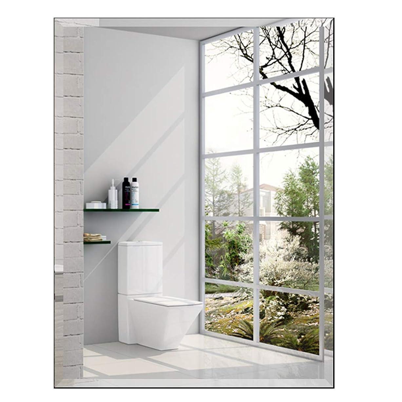 雪だるまを作るしつけモノグラフ長方形の壁ミラーフレームレス、面取りガラスパネル/HDバスルーム化粧鏡、シンプルなリビングルームの装飾鏡、5サイズ