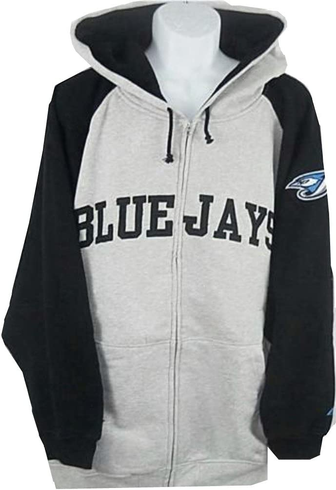 Majestic Toronto Blue Popular standard Jays MLB Mens Full Sweatshirt Zip Shipping included Hoodie B
