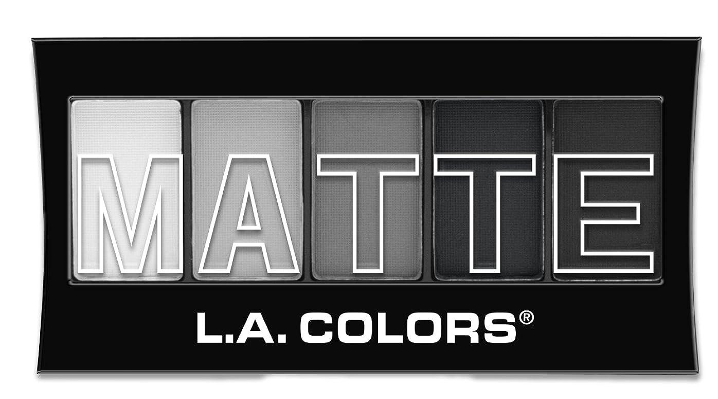リベラル死すべき祝福L.A. Colors Matte Eyeshadow Black Lace (並行輸入品)