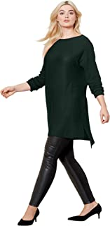 Women's Plus Size High/Low Pullover Sweater Tunic