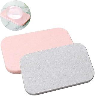 Kaitein 2枚セット 石鹸入れ 珪藻土 速乾 抗菌 空気浄化 石鹸置き ソープディッシュ
