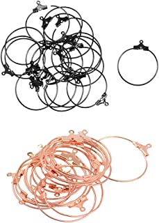 F Fityle 40 Pieces Hot Sale Items Earing Making Rings Openable Hoop Loops Earrings Ear Wire Jewelry Making DIY Earring Findings