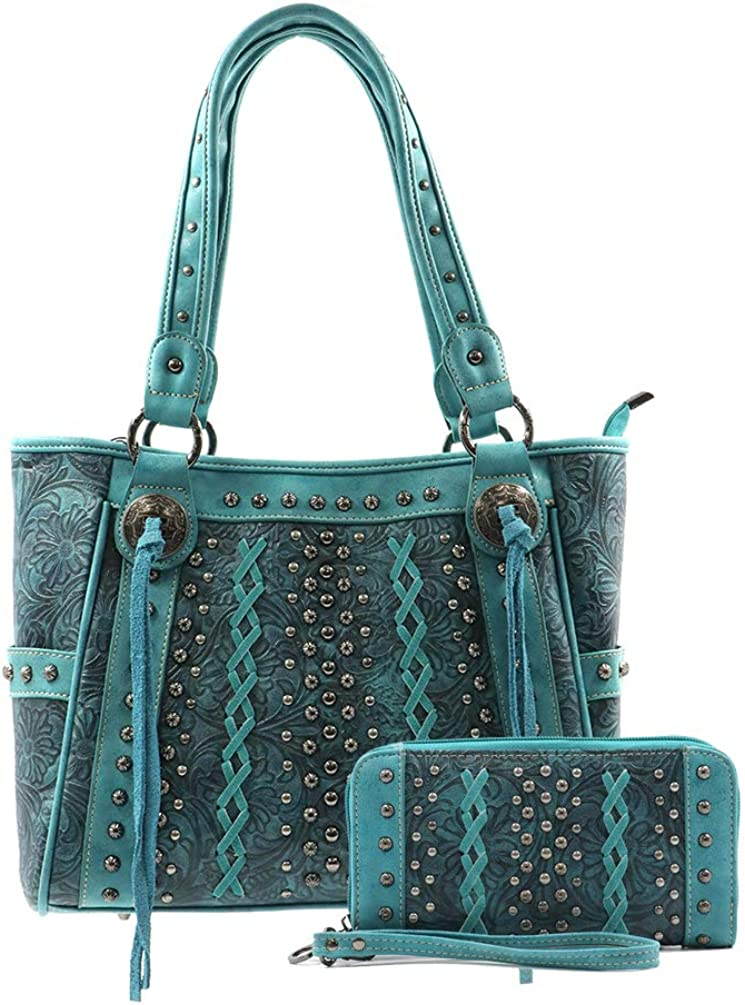 Montana West Leather Concealed Carry Bag Style Shou Tote Western Max 77% OFF Chicago Mall