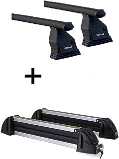 Paire de barres de toit Brio XL avec porte-skis permettant de transporter 4 paires de skis