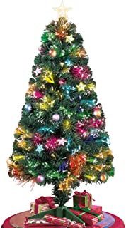 Collections Etc Tabletop Christmas Tree w/Color Changing Fiber Optic Lights - 47