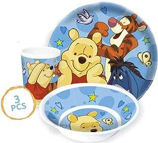 Disney Winnie the Pooh - Platos, cuenco para cereales y vaso