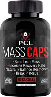 Mass Caps - Highest Quality Muscle Builder on Amazon, Build Lean Mass, Balance Hormones, Break Plateaus, with Creatine HCL...