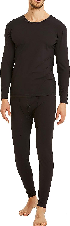 Byruze Thermal Underwear for Men Self-Heating Long Johns Men's Ultra Soft Warm Base Layer Long Sleeve Top & Bottom Winter Set