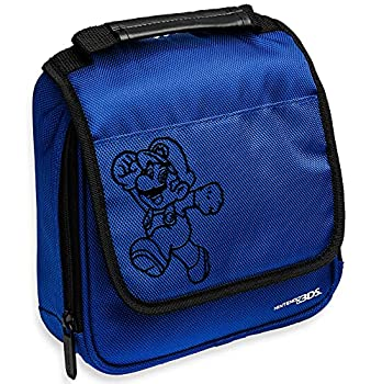 Nintendo Super Mario 3DS Carrying Case Compatible With Nintendo Switch 2DS 3DS 3DS XL DS DS XL DS Light Handle & Shoulder Strap Traveling Carry Case With Hard Zipper Blue Officially licensed