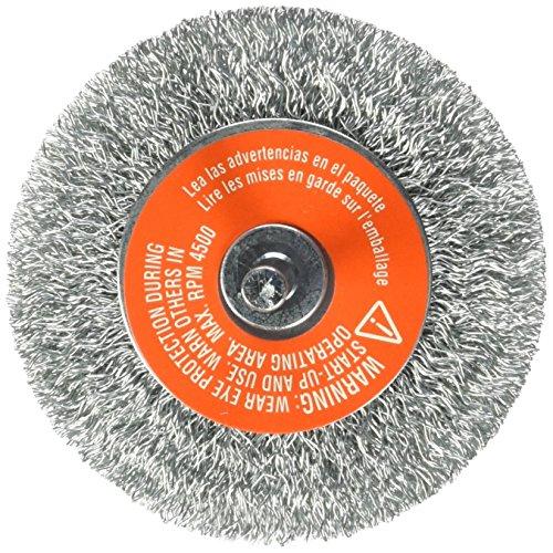 BLACK+DECKER Wire Wheel, 1/4-Inch Crimped, Coarse Shank, 3-Inch (70-603)