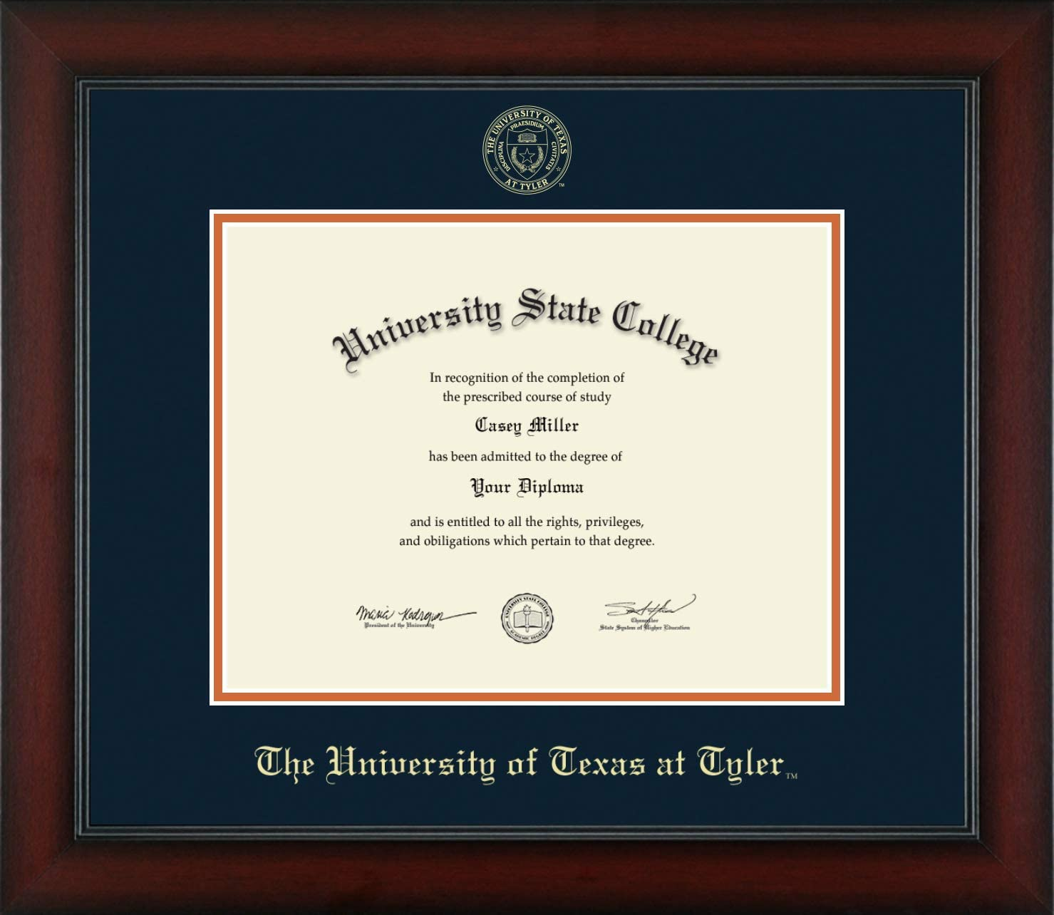 The University of Texas at Same day shipping Tyler Em Officially - gift Licensed Gold