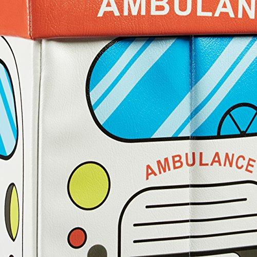 """Relaxdays faltbare Spielzeugtruhe mit Sitzpolster """"Krankenwagen"""", 48x32x32cm - 6"""