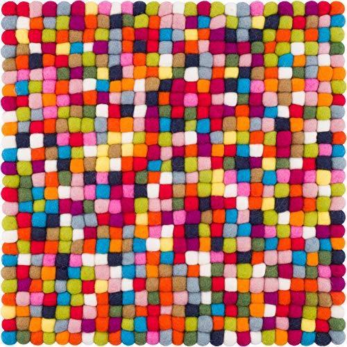 myfelt Lotte Sitzauflage, Wolle, Bunt, 36 x 36 cm