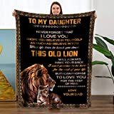 TURMTF Personalized Flannel Throw Blankets to Daughter Gift from Dad-Christmas Birthdays Special Occasions Best Throw Blankets for Couch Bed Healing Blanket (to My Daughter,Dad, Size:60'x80')
