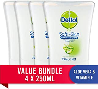Dettol No Touch Antibacterial Hand Wash Refill Aloe Vera Bundle (4 x 250ml)