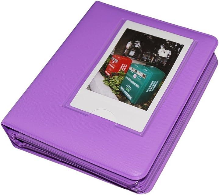 Gift4ES Macaron Marco colorido de la Fujifilm Fuji Instax Mini instantánea Polaroid Películas libro Álbum de Fotos Mini 7s / 8 / 9 / 25 / 50 / 90 / 70 Purple