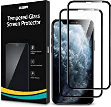 [2-Pack] ESR Screen Protector for iPhone 11 Pro/iPhone Xs/X, Full-Coverage Tempered-Glass with Easy Installation Frame & 3...