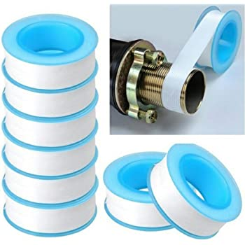 QUICK SILVER Teflon Tape 12mm x 10 Meter for Pipe Fittings, Plumbing,Water Tap,Ro Tap etc.Colour May Vary (Pack of 10 pcs)