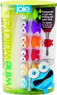 MSC International Joie Wine Watchers, Silicone, Assorted Colors, 6-Piece Set,