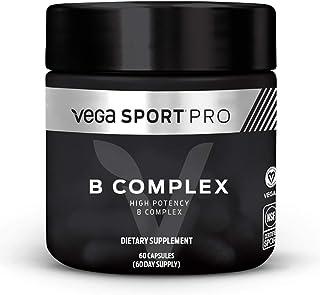 Vega Sport Pro Supplements, B Complex (60 Capsules) - NSF Certified, Certified Vegan, Gluten Free Pills